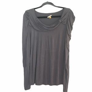 Leifsdottir Long Sleeve Drape Silk Top